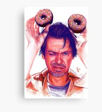 Steve Buscemi and donuts digital painting Canvas Print