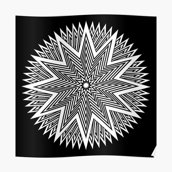 Black and White Minimalist Star Poster
