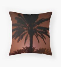 New Orleans Palm Throw Pillow