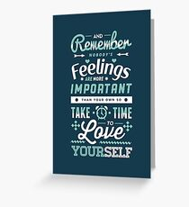 Take Time to Love Yourself Greeting Card
