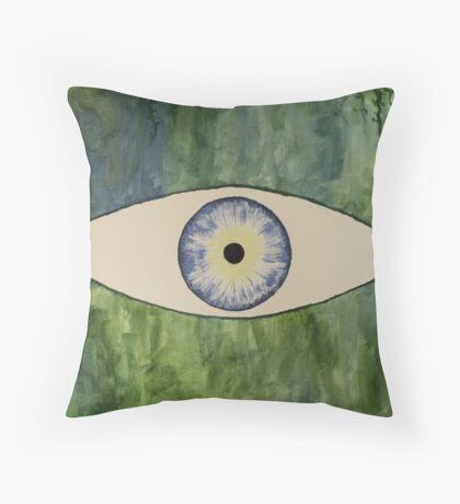 Sea Monster Eye Throw Pillow
