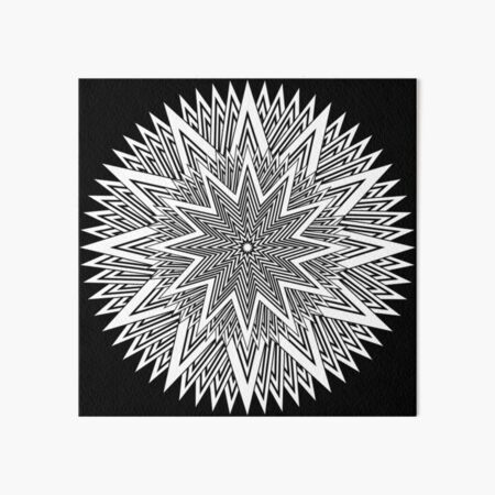 Monochrome Mandala Art Board Print