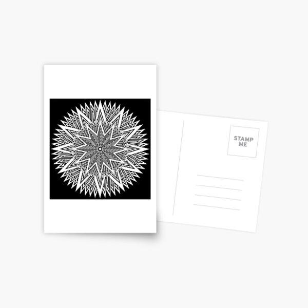 Monochrome Mandala Postcard