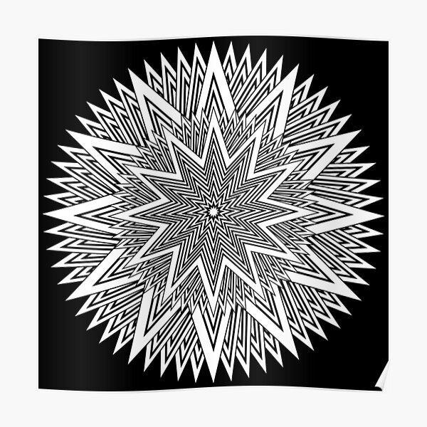 Monochrome Mandala Poster