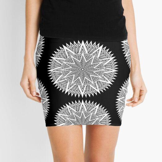 Monochrome Mandala Mini Skirt