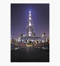 Burj Khalifa Fisheye Photographic Print