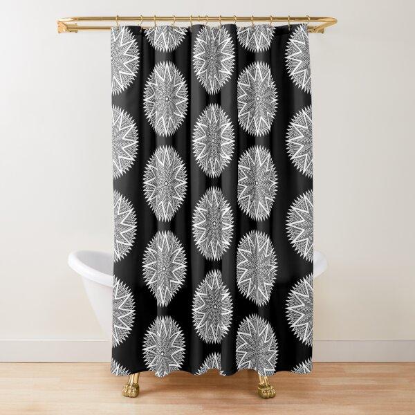 Black and White Minimalist Star Shower Curtain