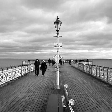 """""""Kein Angeln"""" am Penarth Pier von Andrew-Hocking"""