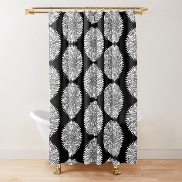 Monochrome Mandala Shower Curtain