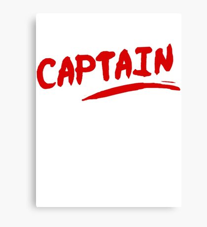 Captain Martin's Lipstick Inscription Canvas Print