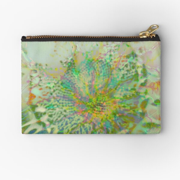 Floral abstraction Zipper Pouch