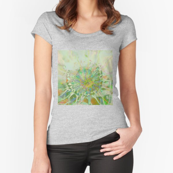 Floral abstraction Fitted Scoop T-Shirt