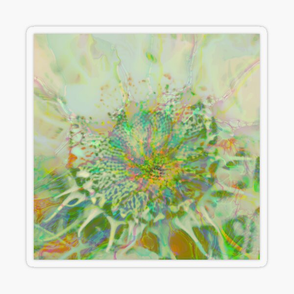 Floral abstraction Transparent Sticker