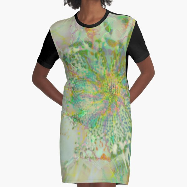 Floral abstraction Graphic T-Shirt Dress