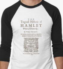Shakespeare, Hamlet 1603 Camiseta ¾ bicolor para hombre