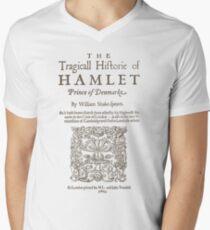 Shakespeare, Hamlet 1603 Men's V-Neck T-Shirt