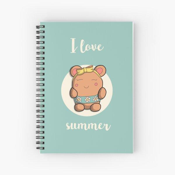 I love summer - Oursdoodle Cahier à spirale