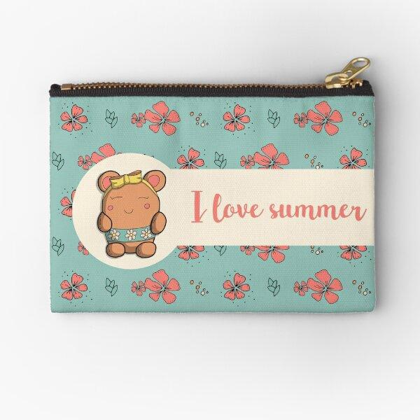 I love summer - Ours doodle Pochette