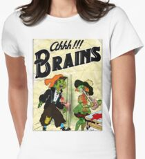 Ahhh!!! Brains Women's Fitted T-Shirt