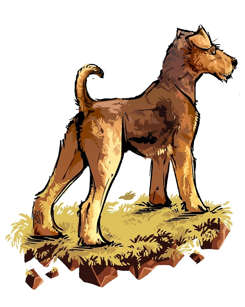 Airedale by Maxine Penders