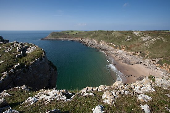 Fall Bay Gower Swansea by Leighton Collins