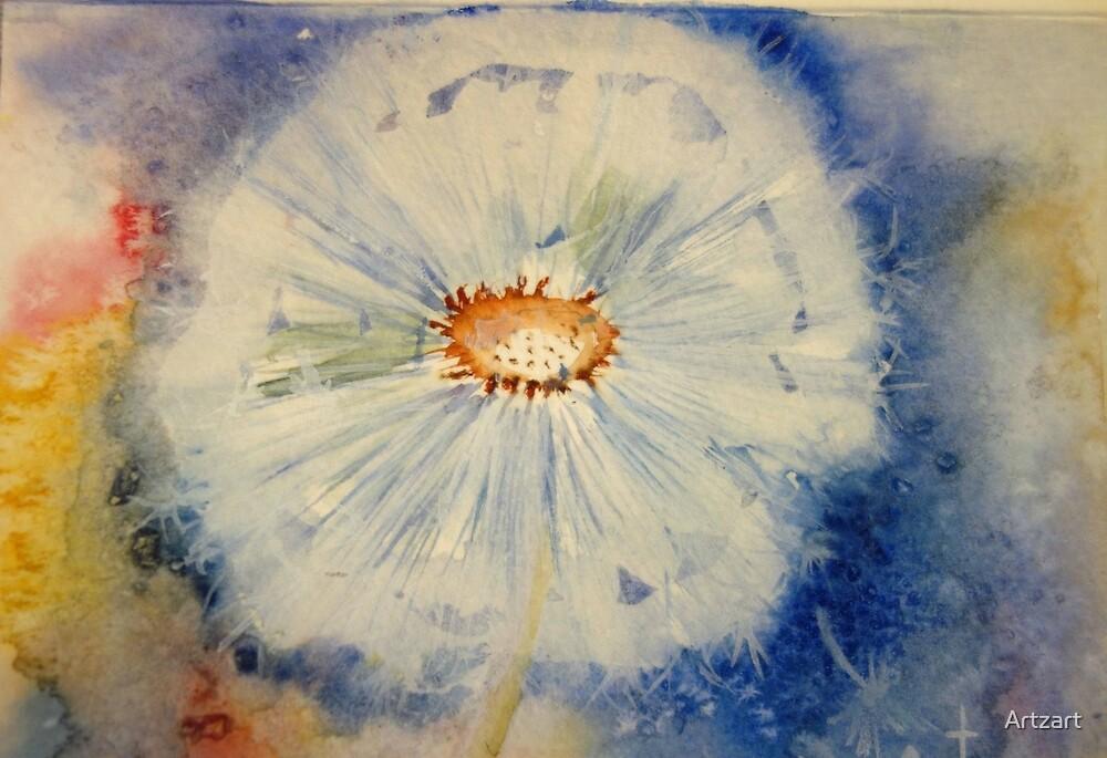 Dandelion Pouf by Artzart