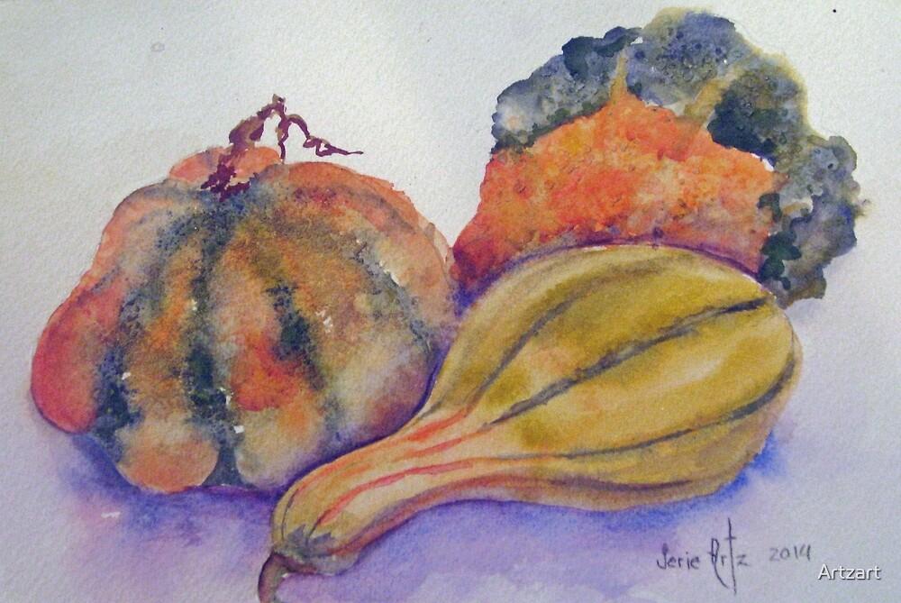 Autumn Gourds by Artzart