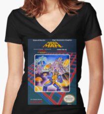 Mega Man 1 nes  Women's Fitted V-Neck T-Shirt