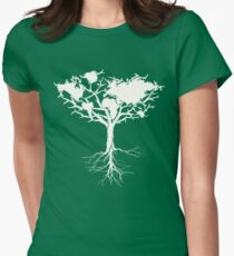 Earth tree *pearl white Women's Fitted T-Shirt