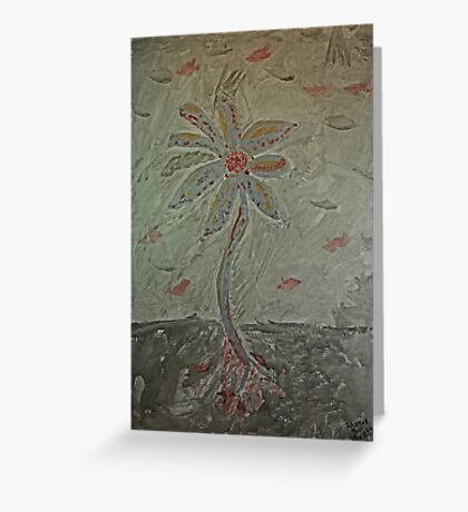 The Metal Flower Greeting Card