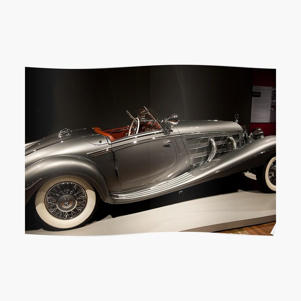 1937 540K  Mercedes-Benz Poster