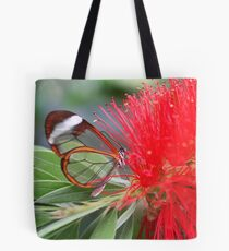 Glasswing Feeding on Bottlebrush - Greta oto Tote Bag
