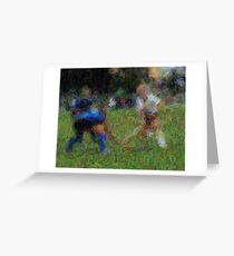 091611 044 0 van gogh field hockey blur 2 oil Greeting Card