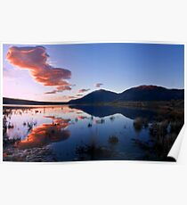 Lenticular Clouds at Sunrise Poster