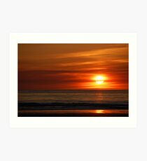 Banna Sunset Art Print