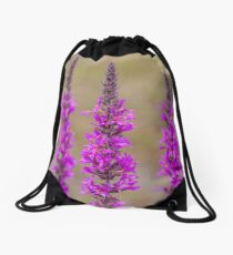 Purple loosestrife Drawstring Bag