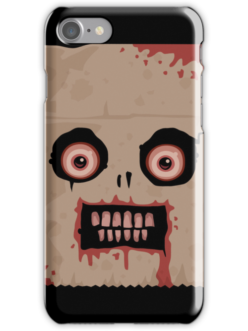 Psycho Sack Monkey iPhone Case by fizzgig