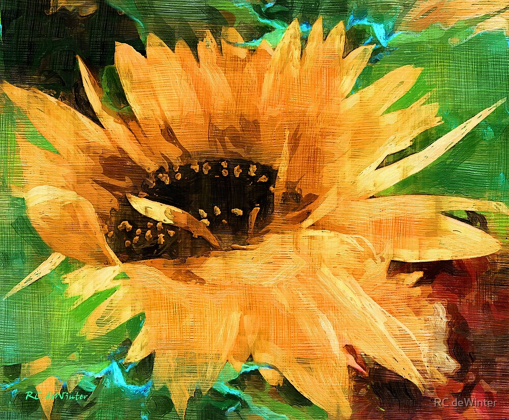 Not Your Mother's Sunflower by RC deWinter