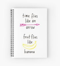 Fruit Flies Like Banana Spiral Notebook
