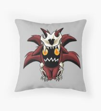 Chibi Nine Tailed Fox Throw Pillow