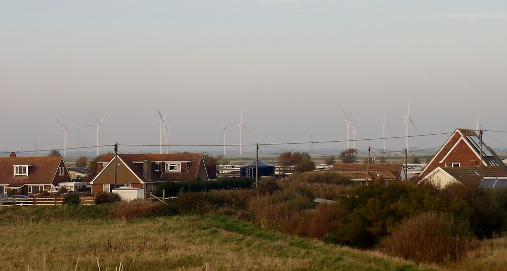 Wind Turbines - Camber Sands by clarebearhh