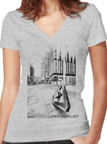 11 Women's Fitted V-Neck T-Shirt