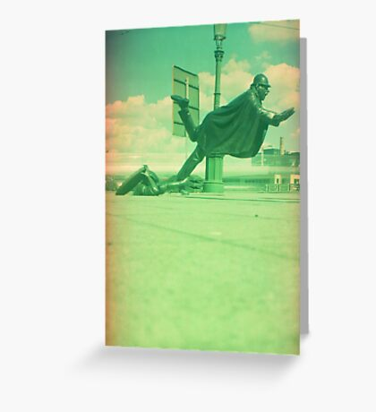 upps falling down Greeting Card