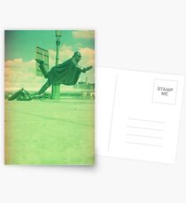 upps falling down Postcards