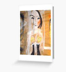 the black corset Greeting Card