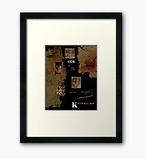 Altered, Terror Faces/Falling to Pieces Framed Print