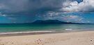 Rain band crossing Bruny Island  by Odille Esmonde-Morgan