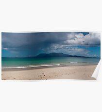Rain band crossing Bruny Island  Poster