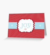 Joy 2011 Greeting Card
