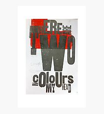TwoColoursInMyHead Photographic Print